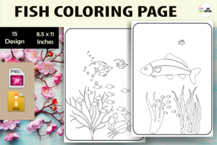 Print on Demand: Fish Coloring Page - KDP Graphic Coloring Pages & Books Kids By Sei Ripan