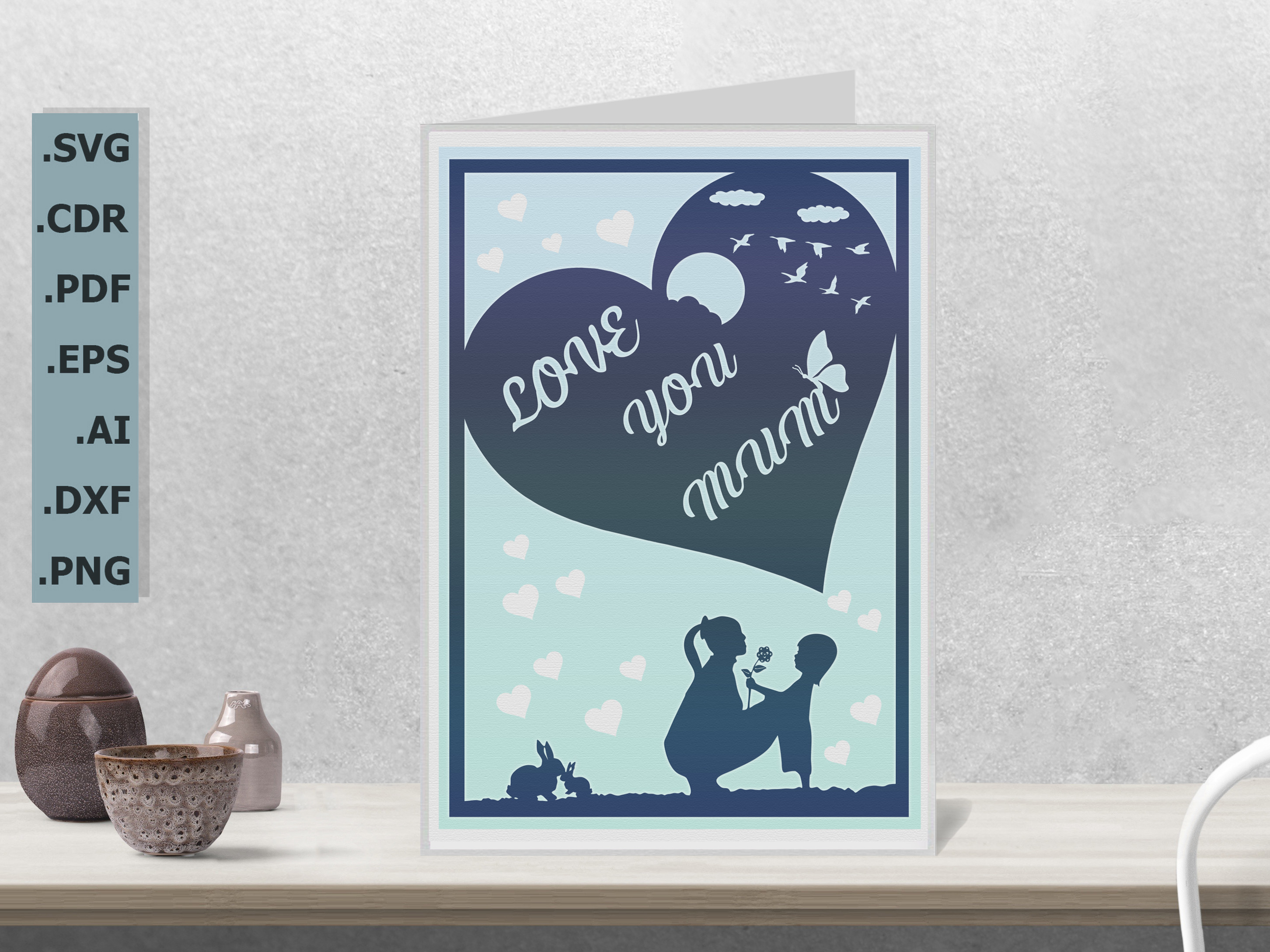 Happy Mother's Day Card Ver.3 & 3... SVG File