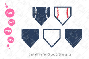 Print on Demand: Home Plate Baseball SVG Graphic Illustrations By CRStocker