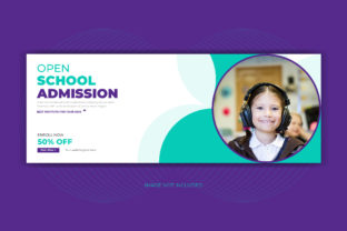 Kids School Admission Facebook Cover Graphic Web Templates By grgroup03