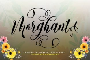 Print on Demand: Morghant Script & Handwritten Font By Stellar Studio