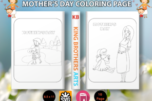 Print on Demand: Mother's Day Coloring Page Graphic Coloring Pages & Books Kids By Sei Graph Arts