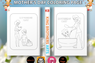 Print on Demand: Mothers Day Coloring Page - Vol.1 Graphic Coloring Pages & Books Kids By Sei Graph Arts