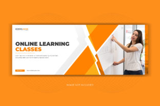 Online Learning School Facebook Cover Graphic Web Templates By grgroup03