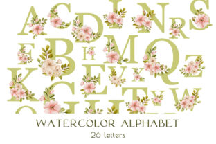 PNG Watercolor Alphabet 26 Letters Graphic Illustrations By Julia Bogdan