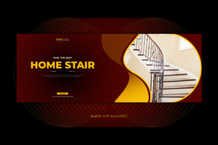 Real Estate Home Stair Facebook Cover Graphic Web Templates By grgroup03
