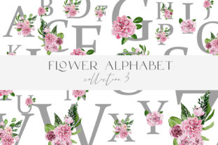 Alphabet Watercolor in Flowers Png 26 Graphic Illustrations By Julia Bogdan