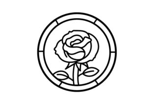 Stained Glass Rose Outline Designs & Drawings Craft Cut File By Creative Fabrica Crafts