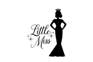 Little Pageant Queen Silhouette Beauty & Fashion Craft Cut File By Creative Fabrica Crafts