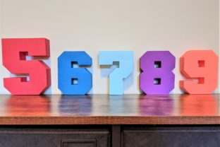 3D Letters and Numbers Digital Template Graphic 3D SVG By Mellysa Lim 2