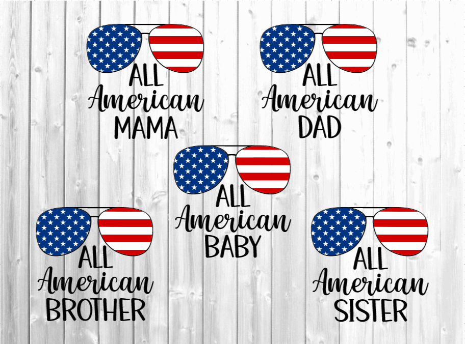 4th of July - All American Family SVG File