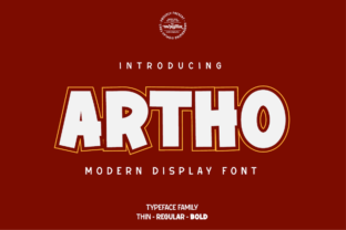 Print on Demand: Artho Display Schriftarten von twinletter
