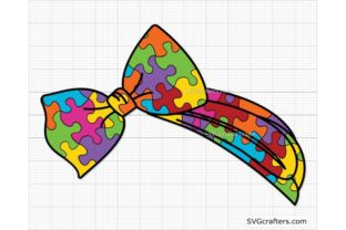 Print on Demand: Autism Headband Svg, Autism Mom Svg Graphic Crafts By SVGcrafters
