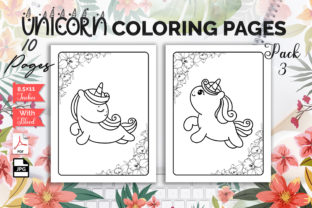 Baby Unicorn Coloring Pages Pack Graphic by Geniousify ...