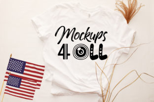 Bella Canvas Unisex 3413 or 3001 White Graphic Product Mockups By PhotoMockup