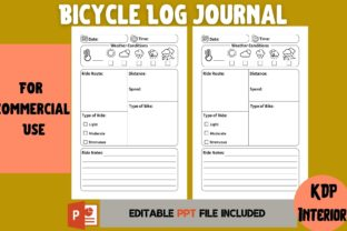 Print on Demand: Bicycle Log Journal | KDP Interior Graphic KDP Interiors By Cool Worker