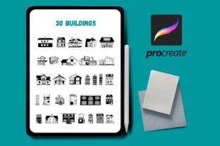 Buildings Procreate Stamps Graphic Brushes By SvgOcean
