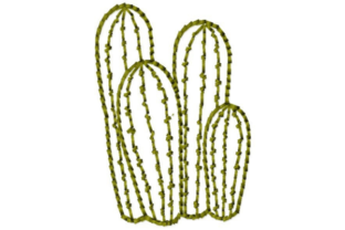 Cactus Grouping Outline Outline Flowers Embroidery Design By designsbymira