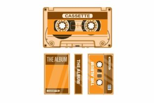 Print on Demand: Cassette Tape with Case Music Symbol Set Graphic Illustrations By aryo.hadi