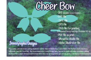 Print on Demand: Cheer Hair Bow Svg Template Graphic Crafts By JessasGraphicDesgins