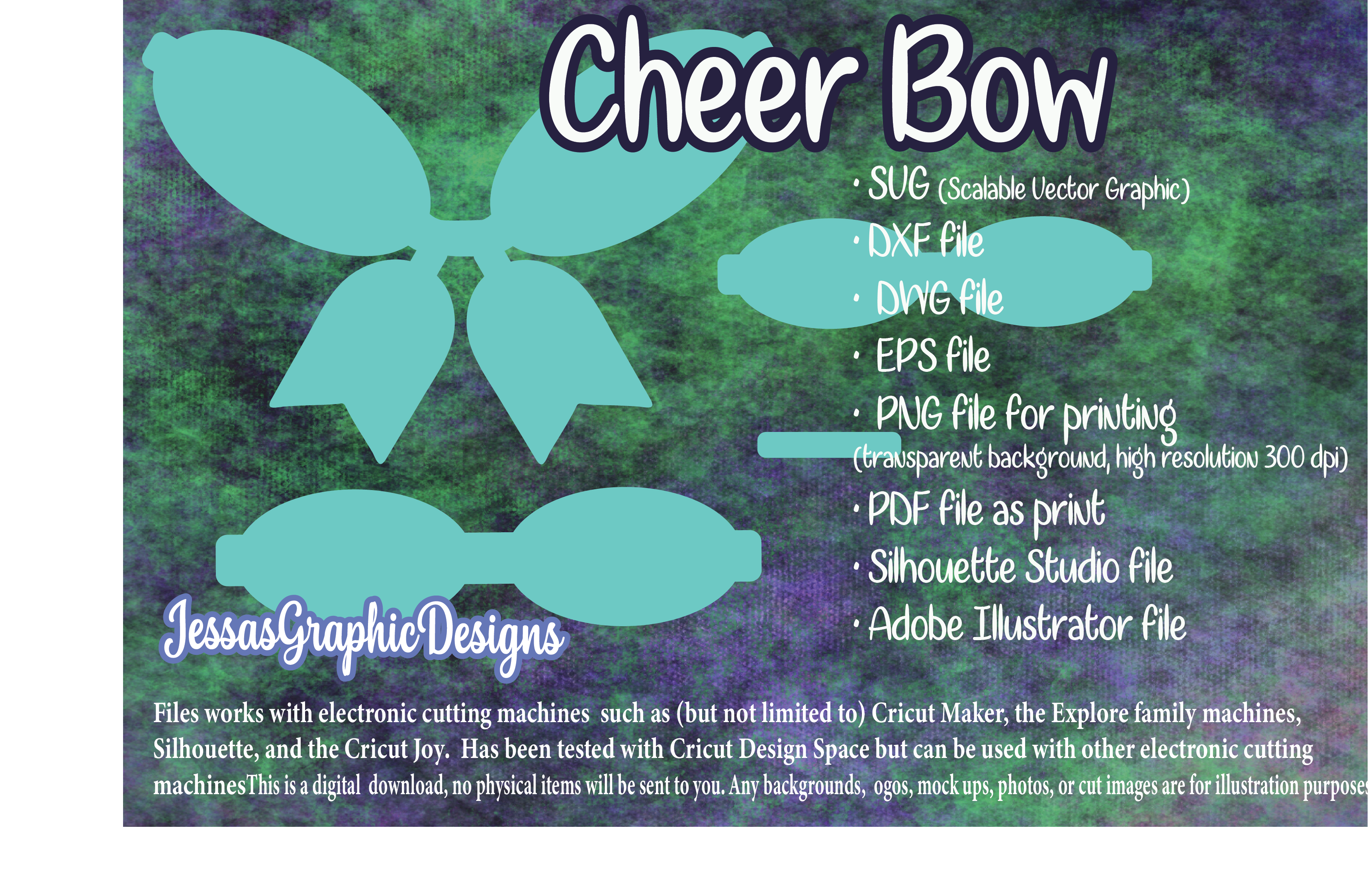 Cheer Hair Bow Svg Template SVG File
