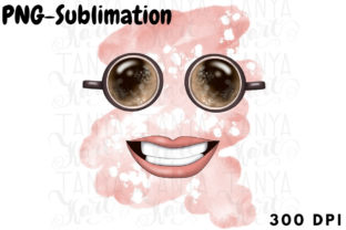 Coffee Smile Sublimation Graphic Crafts By Tanya Kart
