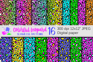 Colorful Leopard Seamless Patterns Graphic Patterns By VR Digital Design
