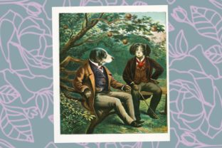 Dandy Dogs of the Victorian Era Graphic Illustrations By Miss Whimsy