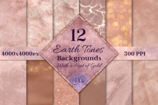 Print on Demand: Earth Tones Backgrounds W/ Hint of Gold Graphic Backgrounds By SapphireXDesigns