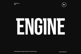Print on Demand: Engine Display Font By Ryan Vierra
