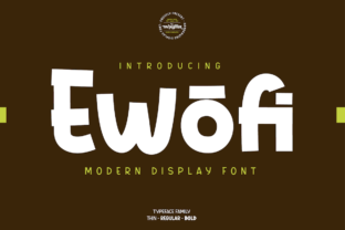 Print on Demand: Ewofi Display Font By twinletter