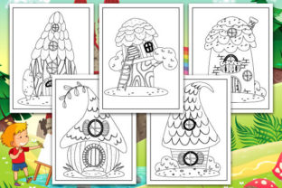 Print on Demand: Fairy - Fairy Tale House Coloring Pages Graphic Coloring Pages & Books Kids By TrendColors