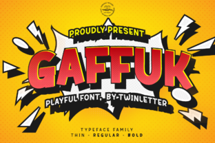 Print on Demand: Gaffuk Display Font By twinletter