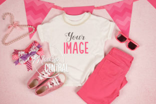 Girl Child White T-Shirt Mockup Flatlay Graphic Product Mockups By Mockup Central