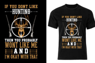 Hunting T Shirt Design 04 Graphic Print Templates By Creativeinside