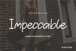 Print on Demand: Impeccable Script & Handwritten Font By pailystudio