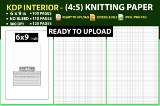 Knitting Paper Interior (6″ X 9″ Inch) Graphic KDP Interiors By triggeredit