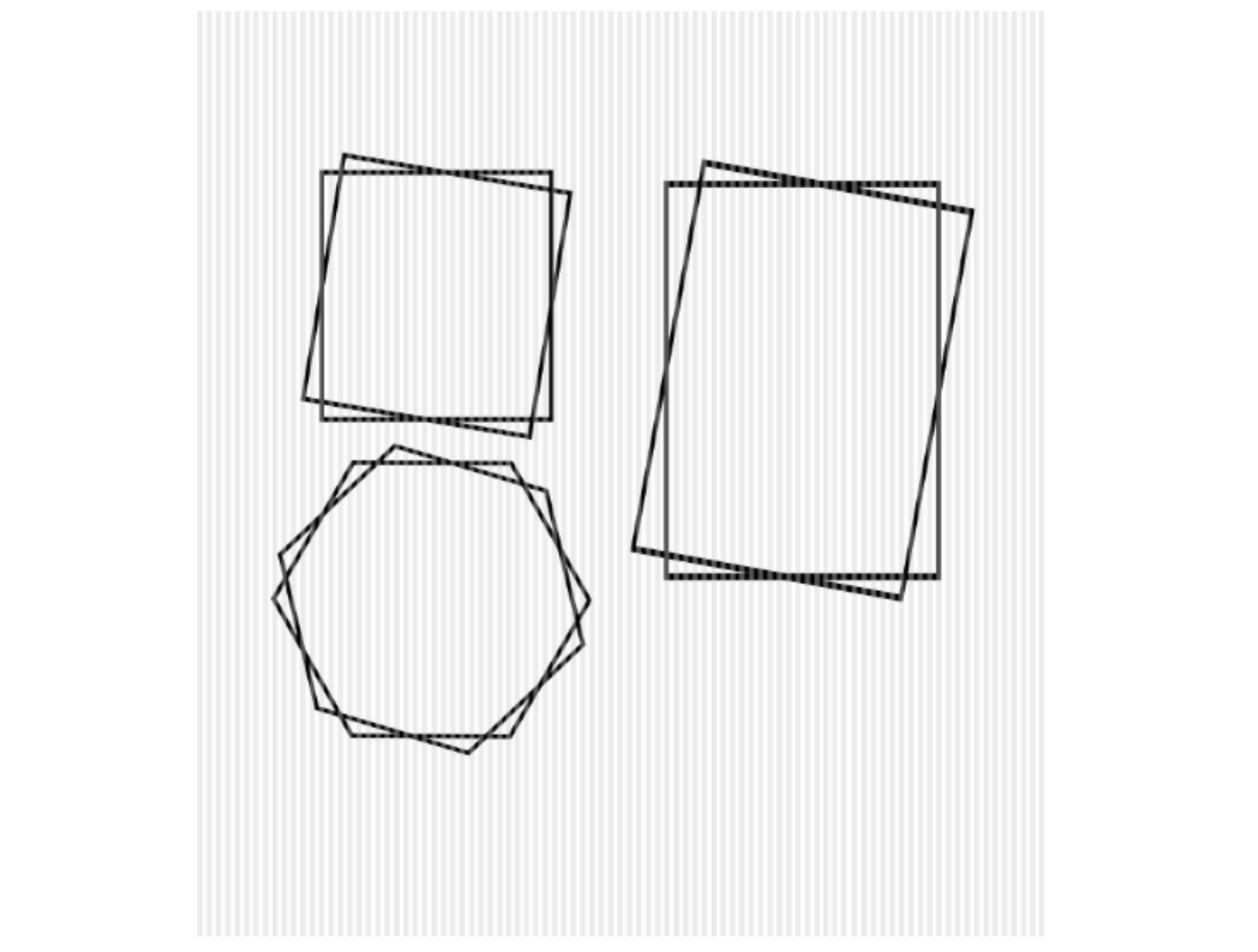 Layered Stacked Square Hexagon Frames SVG File