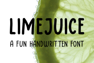 Print on Demand: Limejuice Display Font By designavmad