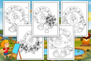 Print on Demand: Lion Coloring Pages Graphic Coloring Pages & Books Kids By Trend Color