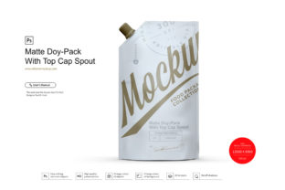 Matte Doy-Pack with Top Cap Spout Mockup Graphic Product Mockups By RG