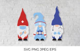 Medical Gnomes. Funny Nurse and Doctors Graphic Illustrations By LaBelezoka