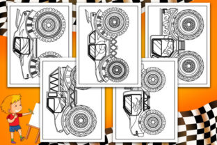 Print on Demand: Monster Truck Coloring Pages Graphic Coloring Pages & Books Kids By TrendColors