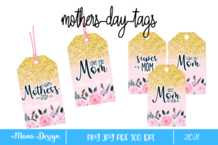 Print on Demand: Mothers Day Tags Graphic Print Templates By Maná Design