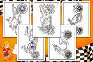 Print on Demand: Motorcycle Coloring Pages Graphic Coloring Pages & Books Kids By TrendColors