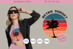 Print on Demand: Palm Tree Svg PNG Summer Cut File. Graphic Crafts By Orange Brush Studio