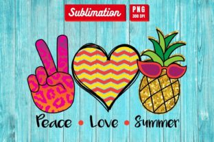 Peace Love Summer Sublimation Graphic 3D SVG By SvgOcean