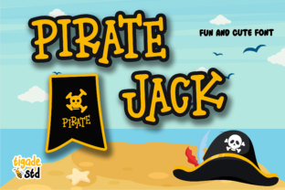 Print on Demand: Pirate Jack Display Font By Tigade std