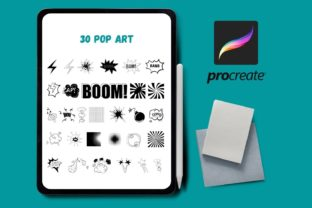 Pop Art Procreate Stamps Graphic Brushes By SvgOcean