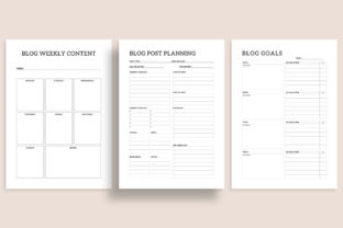 Print on Demand: Printable Blogger Planner 20 Pages Graphic KDP Interiors By AmitDebnath 2